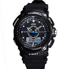 Masculino Relógio Esportivo Relógio Militar Relógio Inteligente Relógio de Moda Relógio de PulsoLED Cronógrafo Impermeável Dois Fusos