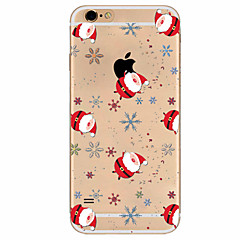 For iPhone 7 etui iPhone 6 etui iPhone 5 etui Ultratyndt Mønster Etui Bagcover Etui Jul Blødt TPU for AppleiPhone 7 Plus iPhone 7 iPhone