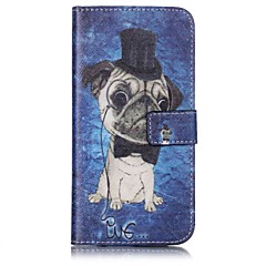Dog Pattern Card Holder PU Leather case For iPhone 7 7 Plus
