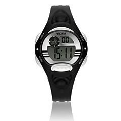 Vilam Kinderen Sporthorloge Polshorloge Digitaal horloge Digitaal LCD Kalender Waterbestendig Stopwatch Plastic BandCartoon Glitter