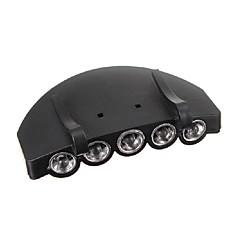 5LED fari faro cappuccio torcia elettrica della lampada della luce cappello torcia di campeggio esterna di pesca di caccia clip-on super