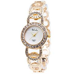 Women's Fashion Quartz Casual Watch Diamond Stainless Steel Belt Business Round Alloy Dial Watch Cool Watch Unique Watch