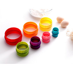 7PCS Horneando De Armar / Herramienta para hornear Galleta Plástico Moldes para cupcakes y magdalenas