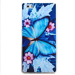 Til huawei p9 p8 lite case cover sommerfugl mønster tpu materiale telefon shell til y5c y6 y625 y635 5x 4x g8