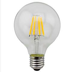 4W E26/E27 LED-glødetrådspærer G95 4 SMD 5730 280 lm Varm hvid / Gul Dekorativ V 1 stk.