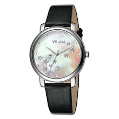 Dámské Náramkové hodinky Křemenný Voděodolné Kůže Kapela Třpyt Bílá Značka