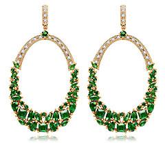 TEEMI AAA Zircon Fan Shape Stud Earrings Fine Jewelry for Women Wedding
