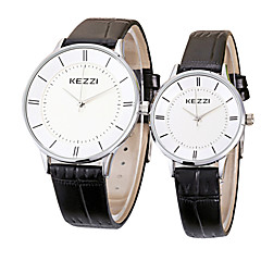 Couple's Fashion Quartz Casual Watch Simple Leather Belt Round Alloy Dial Watch Cool Watch Unique Watch kezzi