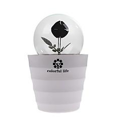 ledde romantiker rose blomsterlökar lampa lightled hem och rum nattlampa dekoration belysning