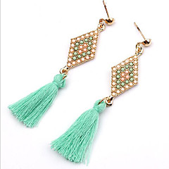 MPL Long tassel diamond earrings and personality