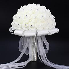 Set of 1 PCS 1 haara Polyesteri Ruusut Pöytäkukka Keinotekoinen Flowers Long 9.84(inch)
