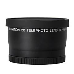 52mm 2,0x telelinse for Nikon D90 D80 D700 D3000 D3100 D3200 D5000 D5100 d5200 18-55mm DSLR-kameraer