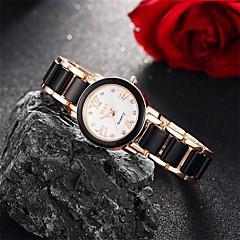 아가씨들 패션 시계 손목 시계 팔찌 시계 방수 석영 합금 밴드 참 캐쥬얼 블랙 화이트