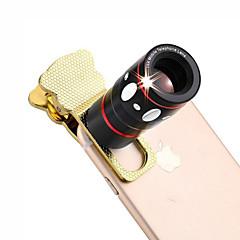 4 en 1 universelle lentille de la caméra de serrage (téléobjectif lentille lentille / fisheye / objectif grand angle / macro)