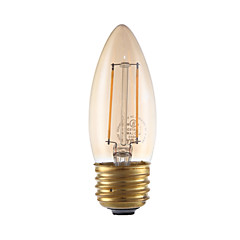 2W E26 LED Filament Bulbs B10 2 COB 160 lm Amber Dimmable 120V 1 pcs