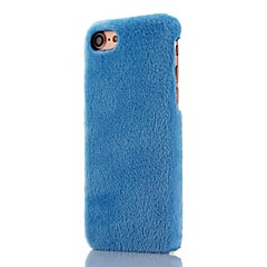 Solid Color Plush Pattern PC Protection Back Cover Case For Apple iPhone 7 7 Plus 6s Plus 6s