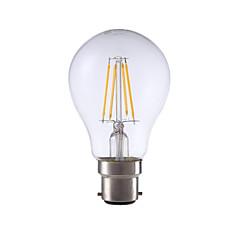 4W B22 LED Filament Bulbs A60 4 COB 400 lm Warm White Decorative 220-240V 1 pcs