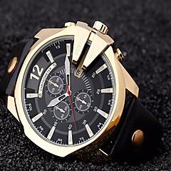 CURREN Hombre Reloj Deportivo Reloj Militar Reloj de Vestir Reloj de Moda Reloj de Pulsera Cuarzo Cuarzo Japonés / Piel BandaCosecha Cool