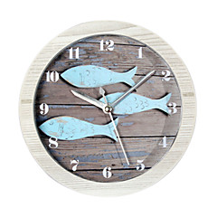 gelukkig geschenken van hoge kwaliteit mitation houtkleur retro Europese stijl houten klok