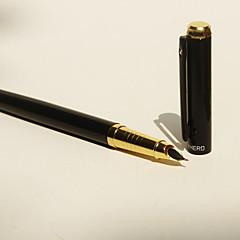 Toll Toll Töltőtoll Toll,Rozsamentes acél Hordó Fekete Ink Colors For Iskolai felszerelés Irodaszerek Csomag pen