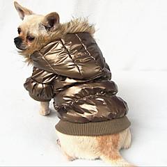 Perros Abrigos Azul / Rosado / Dorado Ropa para Perro Invierno Un Color Mantiene abrigado