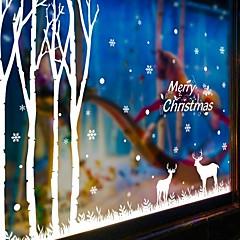 Joulu / Piirretty / Loma Wall Tarrat Lentokone-seinätarrat Koriste-seinätarrat,PVC materiaali Irroitettava / Siirrettävä Kodinsisustus