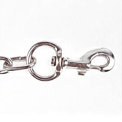 Kutyák Gallérok / Szempillák Állítható/Behúzható / Biztonság Tömör Ezüst Szövet / Rozsamentes acél