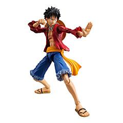 Anime Akciófigurák Ihlette One Piece Monkey D. Luffy Anime Szerepjáték Kiegészítők ábra Piros PVC
