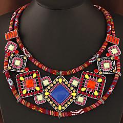 Γυναικεία Κολάρα Πετράδι Ρητίνη Κράμα Γεωμετρικό Βοημία Style Πορτοκαλί Πράσινο Κοσμήματα Πάρτι Καθημερινά 1pc
