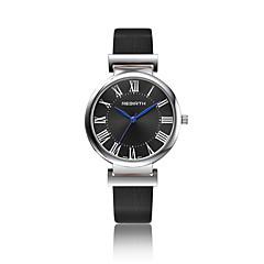 Unisexe Montre Tendance Montre Bracelet Quartz Etanche Cuir Bande Pour tous les jours Noir Blanc Marron Blanc Noir Marron Noir/Argent