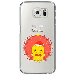 Para Ultra-Fina / Translúcido Capinha Capa Traseira Capinha Natal Macia TPU para Samsung S7 edge / S7 / S6 edge / S6 / S5