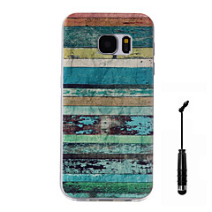 For Samsung Galaxy S7 S7 Edge Case Cover Color Stripes Pattern Super Soft Painting TPU Material Phone CaseTouch Screen Pen