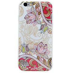 Palace Diagonal Flowers Pattern IMD Crafts TPU Material Soft Phone Case for iPhone 6s 6 Plus SE 5s 5