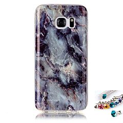 For Samsung Galaxy S7 S6 edge S5 S4 S3 Cover Case Marble Pattern Painting IMD Technology Tpu Material Phone Shell And Dust Plug Combination