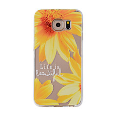 For Mønster Etui Bagcover Etui Blomst Blødt TPU for Samsung Note 5 / Note 4 / Note 3