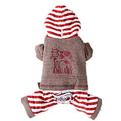 Perros Mono Rojo / Gris / Beige Ropa para Perro Invierno / Primavera/Otoño Animal Mantiene abrigado