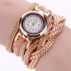 Women's Fashion Watch Wrist watch Bracelet Watch Quartz Punk Colorful Imitation Diamond PU BandVintage Sparkle Eiffel Tower Bohemian Strap Watch