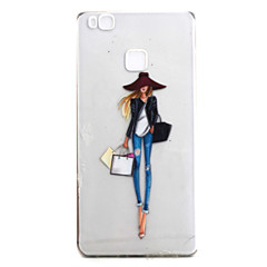 Mert Áttetsző / Minta Case Hátlap Case Szexi lány Puha TPU mert Huawei Huawei P9 / Huawei P9 Lite