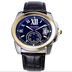 Tevise Heren Dames Voor Stel Sporthorloge Skeleton horloge Modieus horloge mechanische horloges Kwarts Automatisch opwindmechanisme