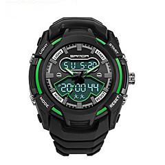 SANDA Da uomo Orologio sportivo Orologio militare Smart watch Orologio alla moda Orologio da polsoLED Cronografo Resistente all'acqua Due