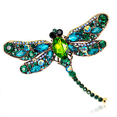 Women's Fashion Alloy/Rhinestone/Crystal Dragonfly Brooches Pin Party/Daily/Wedding Luxury Jewelry 1pc