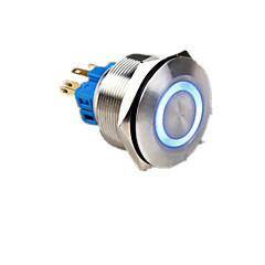 fém nyomógomb kapcsoló visszaállító lámpa