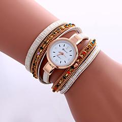 Mujer Reloj de Moda Reloj de Pulsera Reloj Pulsera Simulado Diamante Reloj Cuarzo Colorido La imitación de diamante PU BandaCosecha