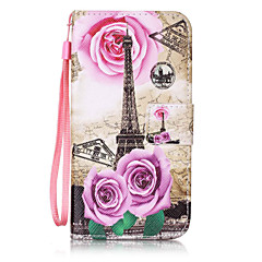 Voor Samsung Galaxy S3 S4 Case Cover Torenpatroon Schilderkaart Stent Pu Leather