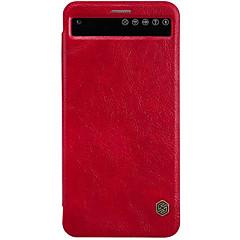 Mert LG tok Kártyatartó / Betekintő ablakkal / Automatikus készenlét/ébresztés / Flip Case Teljes védelem Case Egyszínű Kemény Valódi bőr