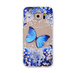 For Samsung Galaxy S7Edge S7 S6Edge S6 S5 S4 Case Cover Blue Butterfly Painted Pattern TPU Material Phone Case