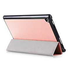 Solid Color Pattern Oil Painting PU Leather Case with Sleep for 8.9 Inch Amazon New Fire HD8 (2016)