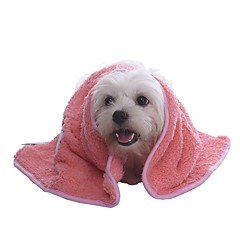 Gato / Perro Atención de Salud / Limpieza Mascotas Mantas Portátil / Plegable / Suave / Caricaturas / Adorable / Casual/DiarioRojo / Azul
