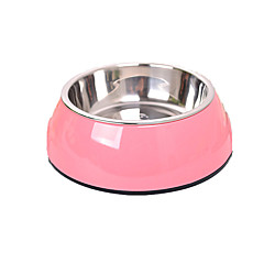 Perro Alimentadores Mascotas Cuencos y Alimentación Portátil Color Aleatorio Acero Inoxidable