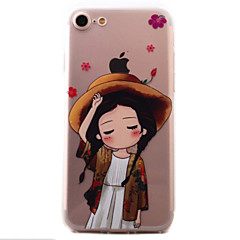 For iPhone 7 7 Plus 6S 6 Plus SE 5S Case Cover Little Girl Pattern High PermeabilityThickening Painting Relief TPU Material
